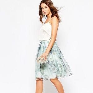Ted Baker Roshini Torchlit Floral Midi Skirt NWOT